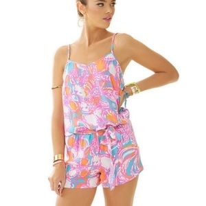 Shorley Blue Feeling Tanked Lilly Pulitzer Romper